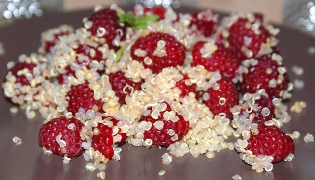 Quinoa i maliny - czyli nowy pomysł na deser