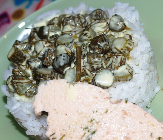 Łosoś norweski w towarzystwie sosu korniszonowego podany z białym ryżem