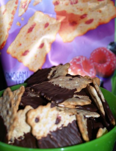 przekąska na karnawał - płatki zbożowe w czekoladzie