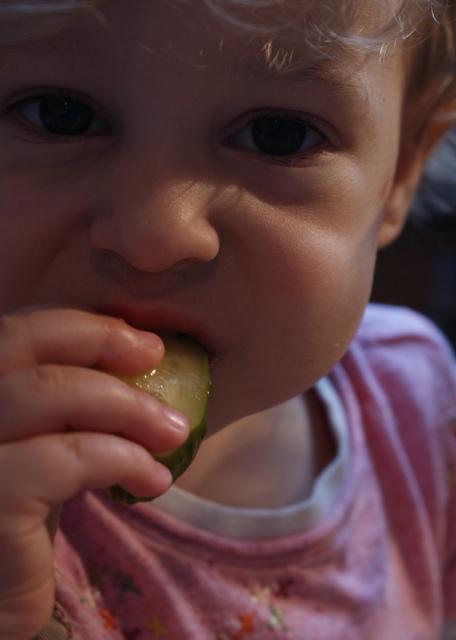 Jak widać ogórki małosolne smakują również Pulpecji :)