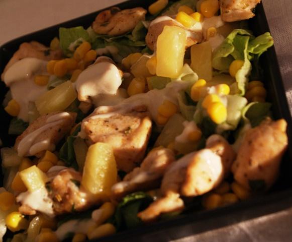 kurczak  z grilla sałatka pierś z kurczaka przepis