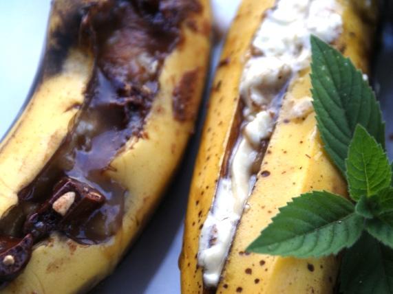 grillowane banany deser z grilla