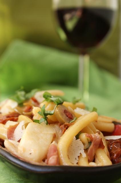 makaron szparagi obiad kuchnia włoska