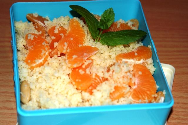cytrusowy kuskus z mandarynkami