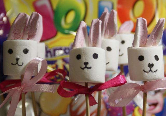 zajączki marshmallow wielkanoc